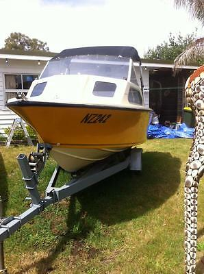 Streaker 15Ft Half Cabin 50Hp Johnson Outboard And Trailer Can Ship Aust Wide