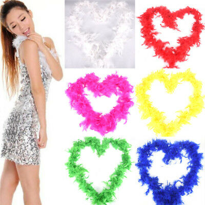 New 2M Long Fluffy Feather Boa For Party Wedding Dress Up Costume Decor  R