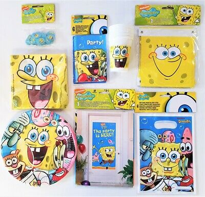 SpongeBob SquarePants Birthday Party Tableware - Choose from list - Sponge Bob