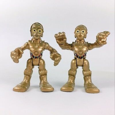 """Lot2pcs Playskool Star Wars Galactic Heroes C-3PO 2.5"""" Figure Collection Toys"""