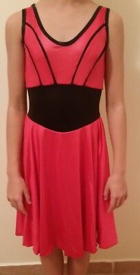 Dance Costume Large Child Red black ballet DRESS Competition flowing halloween