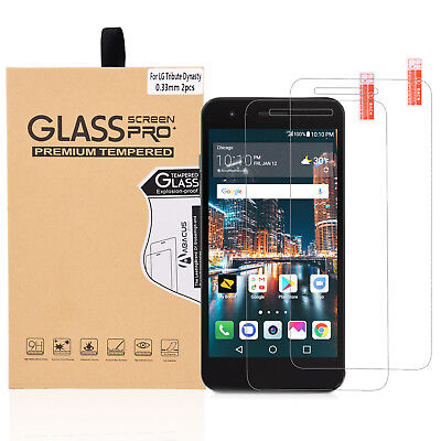 2-PACK Glass Screen Protector for LG Aristo 2/Tribute Dynasty/K8 2018/Fortune 2