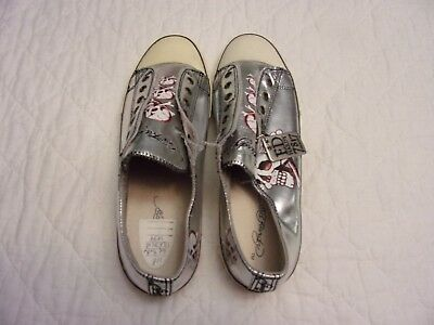 Don Ed Hardy Silver Skull Shoes Size 12 New But With Defects