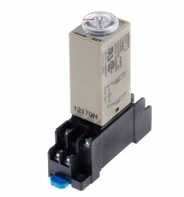 H3Y-2 AC 220V Delay Timer Time Relay 0 - 60 Second with Base, UK seller