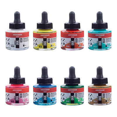 Amsterdam Acrylic Ink Liquid Paint 30ml - Available in 46 Colours