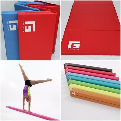8FT GYMNASTIC BEAM AND 1.8m FOUR FOLD  MAT COMBO  FREE UK SHIPPING GYM FACTOR