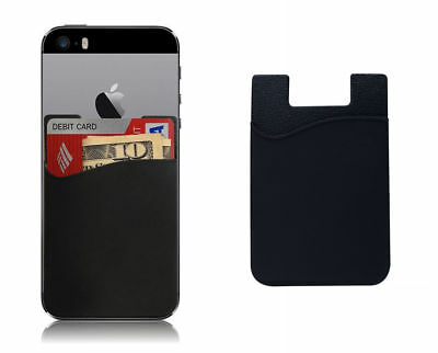 Smart Silicone Mobile Phone Wallet Card 3M Stick Credit Card Cash Holder IPhone