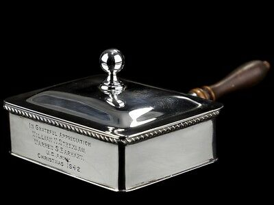 1942 Sterling Silver Silent Butler to D-Day US Airborne Officer