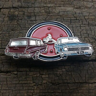 Leather Vest Jacket metal  PIN Badge HOLDEN EJ / EH DUO auto car