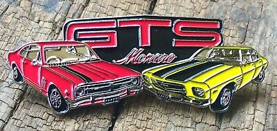 Leather Vest Jacket metal  PIN Badge HOLDEN GTS MONARO HQ / HJ DUO auto car