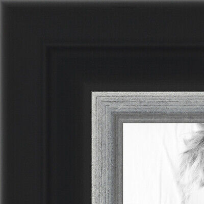 "ArtToFrames Picture Frame Custom 1.25/""  Black Steel Style 4639 Small"