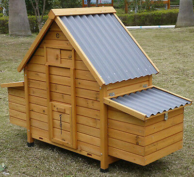 Eco 6002N Chicken Coop Hen House Poultry Ark Rabbit Hutch Run New Large Plastic