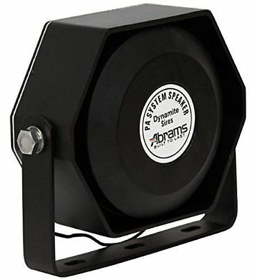 Abrams Ultra Compact 100W 100 Watt Siren Speaker High Performance 5Year Warranty