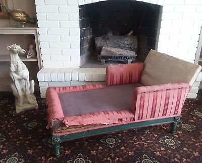Antique Child's Louis Vxi French Recamier Petite Sofa Daybed Chaise Lounge As Is