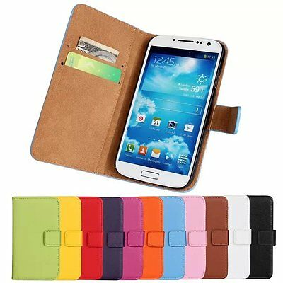 Fresh For Samsung Galaxy S4 i9500 Genuine Leather Wallet Case Cover Phone Pouch