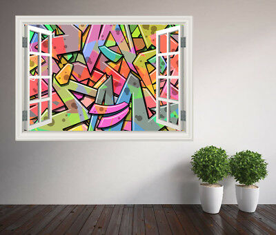 Cool Abstract Graffiti Art Kids Bedroom Wall Sticker Wall