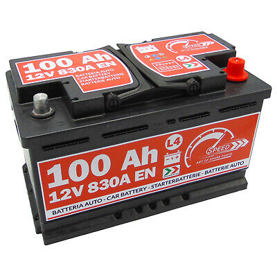 BATTERIA AUTO SPEED L4 100 Ah 830A = FIAMM 90 95 DX + PRONTA ALL'USO