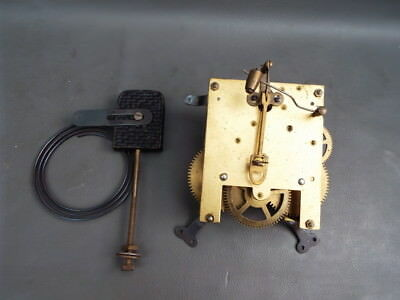 Vintage mantel clock movement and chime for repair or spares