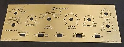50's Grommes 212A Tube Preamp Faceplate
