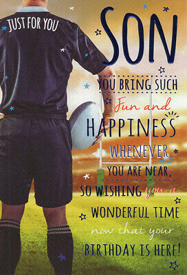 For A Special Son Birthday Card Rugby Design 299 Picclick Uk