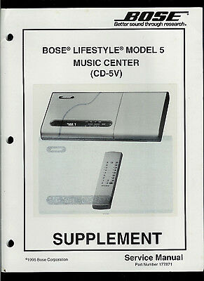 bose lifestyle model cd5v series ii music center service manual oem rh picclick com bose lifestyle model 5 instruction manual bose lifestyle model 5 music centre manual