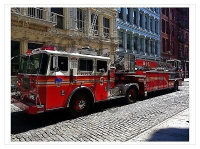 TIRAGE/REPRINT A3 : NEW YORK : POMPIERS  n° 1