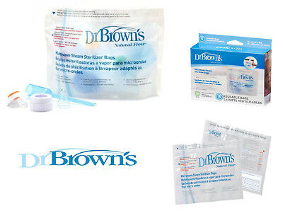 Dr Brown's Baby Bottles Steriliser Bags Travel Holiday Convenient Bags