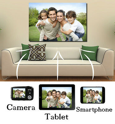 Your Photo On Box Canvas  A2 22 x 16 INCH Personalised Picture *READY TO HANG*