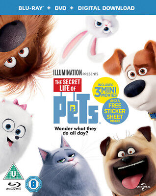 The Secret Life of Pets Bluray+DVD+Digital Download NEW & SEALED Free Delivery