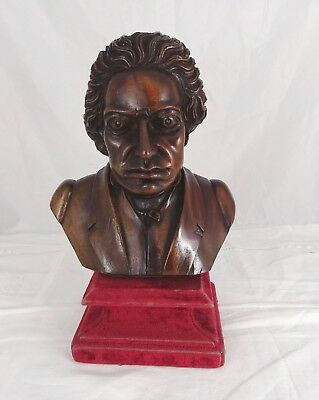 Hand Carved Antique French  Wood Walnut  Bust of Man 19th Sculpture