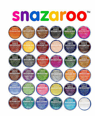 18ml SNAZAROO FACE PAINTS Stage Make-Up 57 COLOURS Classic Theatre Fancy Dress