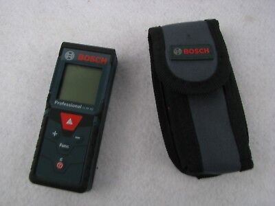 Bosch GLM 40 distance measure stud finding medal and wood