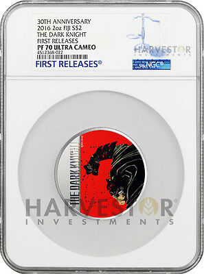 2016 Batman The Dark Knight Returns - 2 Oz. Coin - Ngc Pf70 First Releases - Ogp