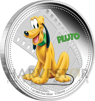 Disney - Pluto - Mickey And Friends - 1 Oz. Silver Proof - Mint Box & Coa