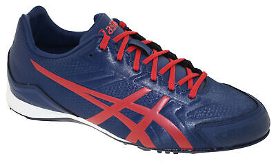 1fe104d3666 Asics Men s Base Burner Baseball Cleat Indigo Blue Racing Red White Style  5023