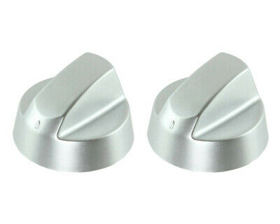 Silver Grey Control Knobs / Dials for Hotpoint Oven Cooker & Hob Pack of 2