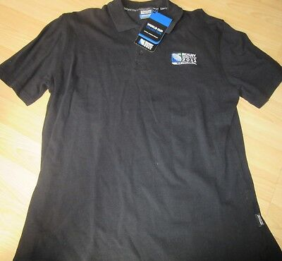 NEW RUGBY WORLD CUP 2011 NEW ZEALAND POLO SHIRT size L