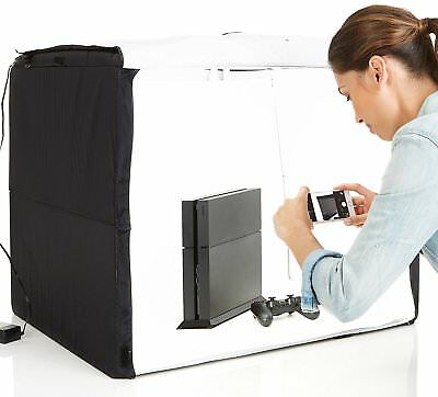AmazonBasics Portable Photo Studio high quality output built-in LED lights.