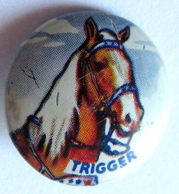 Vintage Roy Rogers Trigger 1953 Post Cerial Button