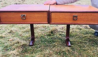 Pair of G Plan Floating Bedside Cabinets