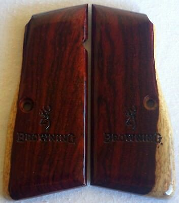 BROWNING-HIGH-POWER-GRIPS-COCOBOLO-WOOD A-42 l@@k