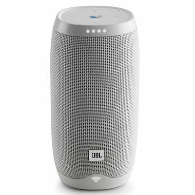 JBL Link 10 Voice- Activated Portable Speaker w/ Built-in Google Assistant-White