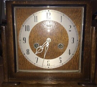 SMITH ENFIELD Art Deco Chiming Wooden Mantle Clock old Vintage