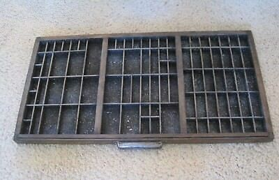 """VINTAGE/ANTIQUE WOODEN PRESS/PRINTERS CABINET DRAWER/TRAY/SHADOW BOX-32""""x17 1/2"""""""
