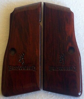 BROWNING-HIGH-POWER-GRIPS-COCOBOLO- ROSEWOOD A-40 l@@k