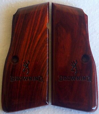 BROWNING-HIGH-POWER-GRIPS-COCOBOLO- ROSEWOOD A-47 l@@k
