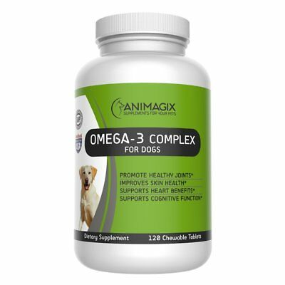 Omega 3 for Dogs by Animagix, 100% Natural Fish Oil for Dogs 457mg 120 tablets