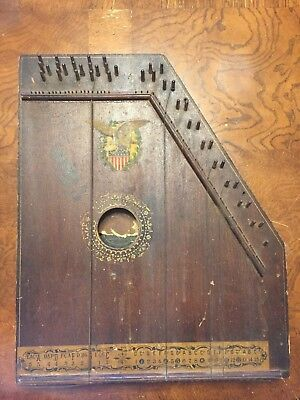 Vintage Antique Oscar Schmidt Menzenhauer Mandolin Guitar Zither Harp