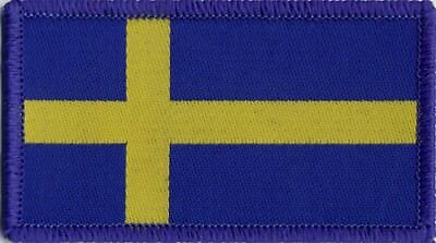 Swedish Flag Sweden Woven Badge, Patch 8cm x 4.5cm