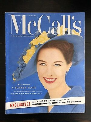 LOT OF 50 VINTAGE MCCALL'S MAGAZINES 1950's-1960's - Designer Woman's Magazine